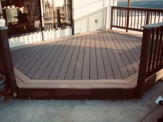Calgary designed with different colour composite decking boards
