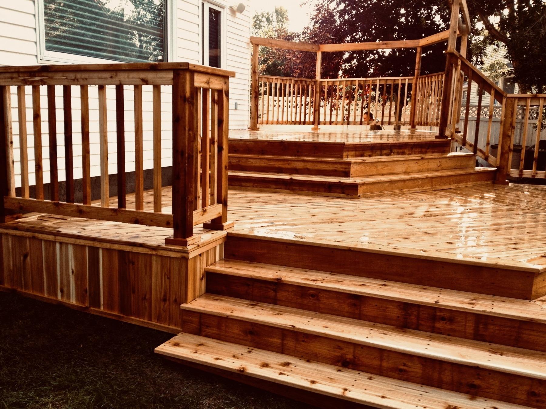 Backyard deck in Calgary