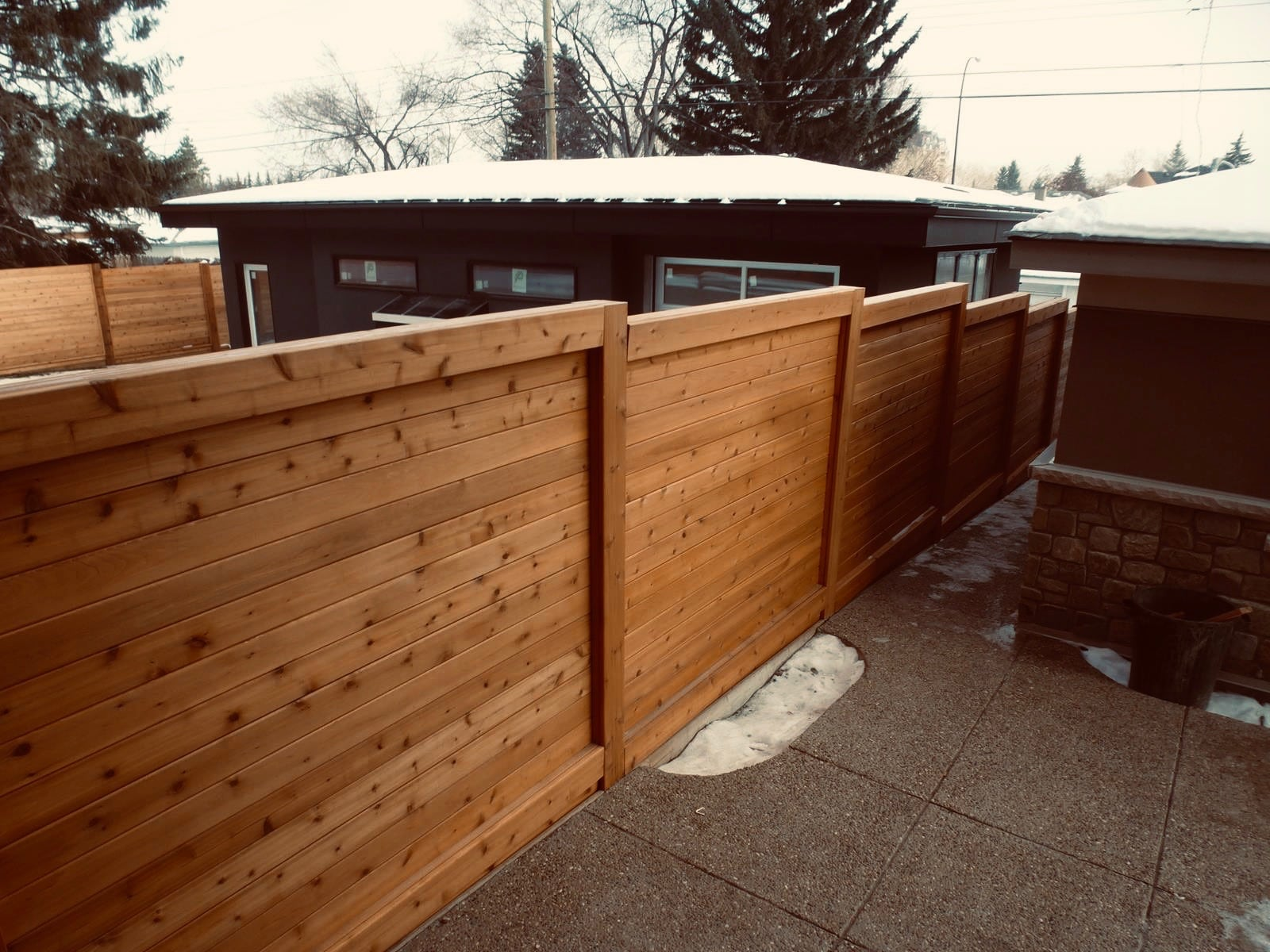Fence boards by Mountain View Building Materials