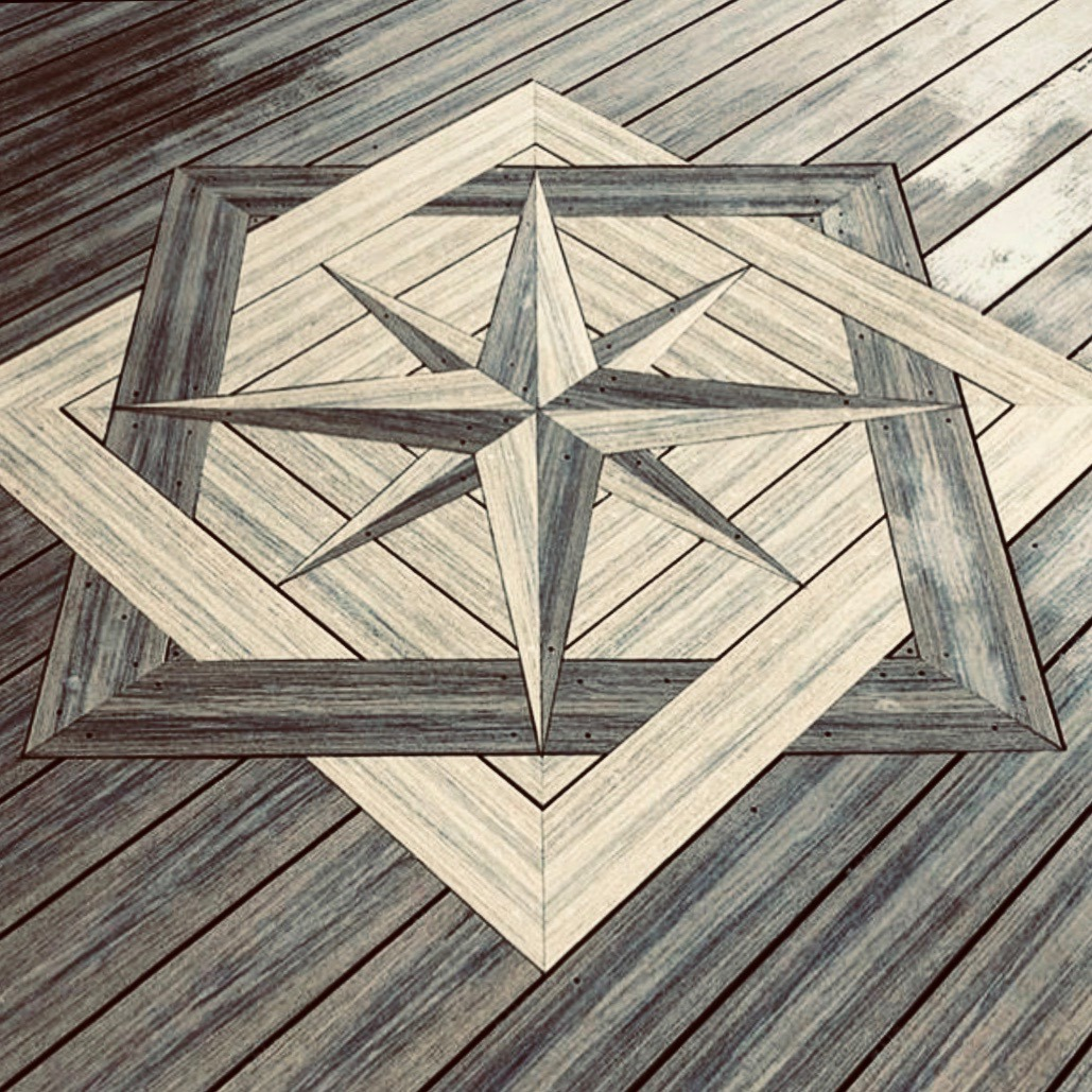 Deck designs created with composite decking boards